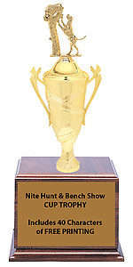 Hunting and Working Dog Cup Trophies 2813 Series