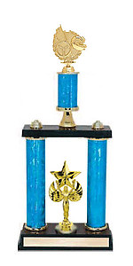 Two Post Racing Trophies, 5 Design Options and 5 Topper Options