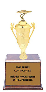 CF2800 Fairlane Car Show Cup Trophies with 9 Size Options, Add Cup & Base Height to the Topper Height to Get Overall Height of Trophy