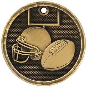 3D206 Football Medal with Six Pricing Options