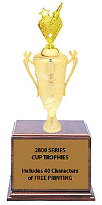 CF2800 Star Spark Plug Cup Trophies with 9 Size Options, Add Cup & Base Height to the Topper Height to Get Overall Height of Trophy