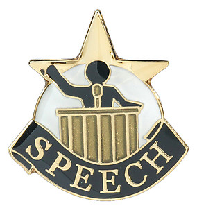Speech Lapel Pin