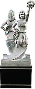 Cheerleader Trophy Resin Sculpture 78506GS