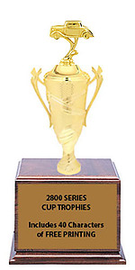 CF2800 Street Rod Car Show Cup Trophies with 9 Size Options, Add Cup & Base Height to the Topper Height to Get Overall Height of Trophy