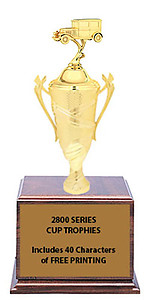 CF2800 Antique Car Cup Trophies with 9 Size Options, Add Cup & Base Height to the Topper Height to Get Overall Height of Trophy