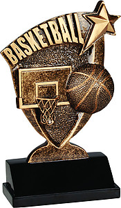 Broadcast Resin Basketball Trophies BCR102-202