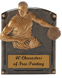 54705 Legend of Fame Boys Resin Basketball Plaque