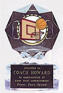 Acrylic Star Ice Basketball Trophies