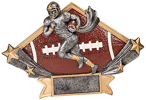 Diamond Star Football Plaques with two size options.