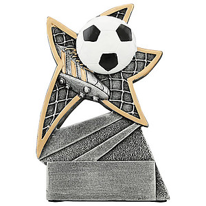 Jazz Star Soccer Resin Trophies