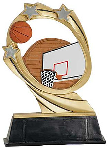 Resin Cosmic Basketball Trophy with Two Size Options