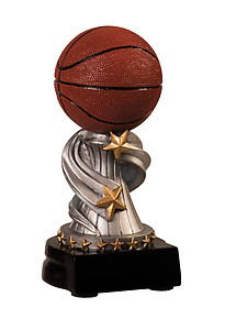 Encore Basketball Trophies with Three Size Options