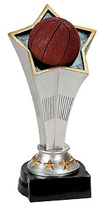 Rising Star Basketball Trophies with Three Size Options