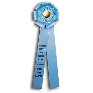 TR134  6 X 18 inches Pointer or Retriever Field Trial Rosette Ribbon