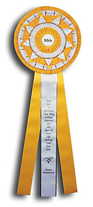 12x36 Jumbo Rosette Ribbon Equestrian Events