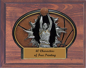 Girls Mounted Resin Basketball Plaques