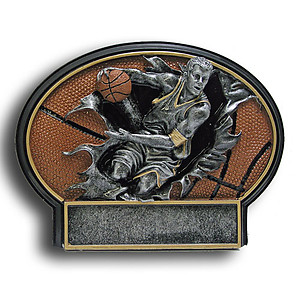 Male Resin Basketball Plaque Award