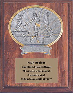 Gymnastic Plaques as low as $27.99