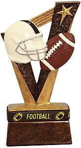 Resin Football Trophybands 6 1/2 inches tall with wearable wrist bands