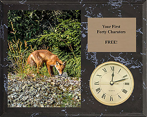 H Series Cherry Finish Fox & Coyote Clock Plaques