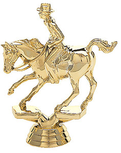 Male Cutting Horse Trophy Figure 716