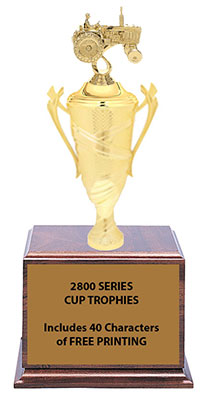 2805 Tractor Cup Trophy 12 1/2 to 14 inches tall
