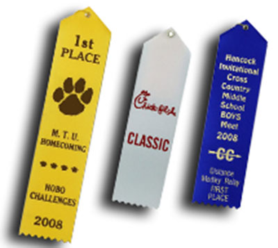 Card and String Basketball Ribbons with Custom Print