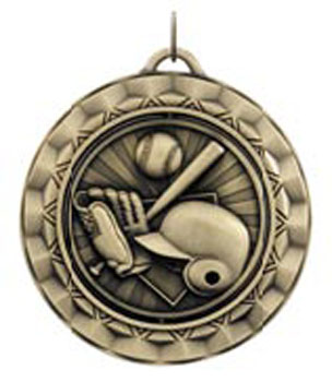 Wow! Center spinning softball medal