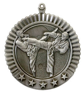 36623 Male Martial Arts Medal with Six Pricing Options