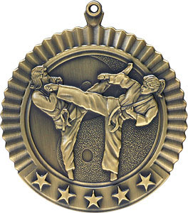 36627 Female Martial Arts Medal with Six Pricing Options
