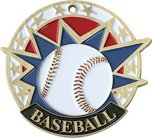 Colorful USA Baseball Medal with Six Pricing Options