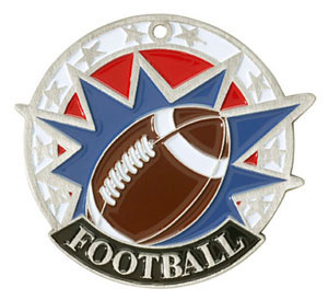 Colorful USA Football Medal with Six Pricing Options