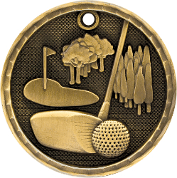 3D207 Golf Medal with Six Pricing Options