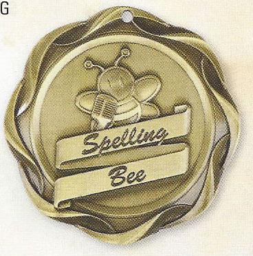 45008 Fusion Spelling Bee Medals with Six Pricing Options