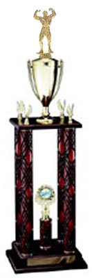 Huge Bodybuilding Trophies, Weightlifting Trophies