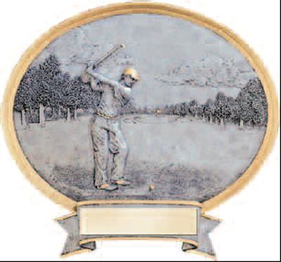 Men's Resin Golf Plaque Award