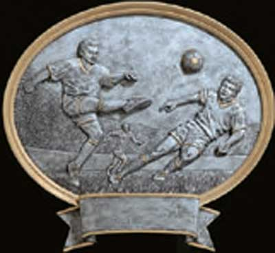 Resin Men's Soccer Plaque Award