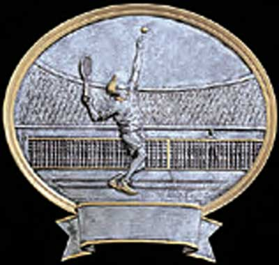 Resin Men's Tennis Trophy Plaque Award
