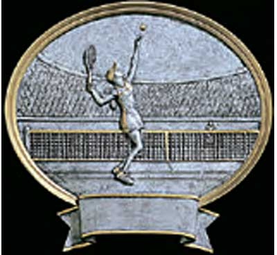 Women's Resin Tennis Trophy Plaque Award