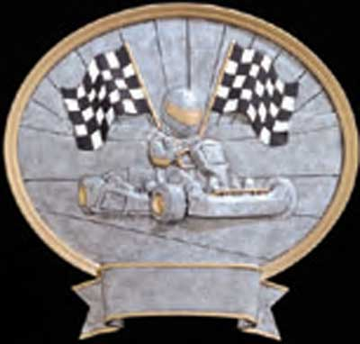 Racing Go-Kart Plaque