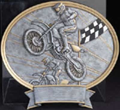 Motocross Trophy Plaque Award
