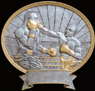 Resin Oval Boxing Plaque Award