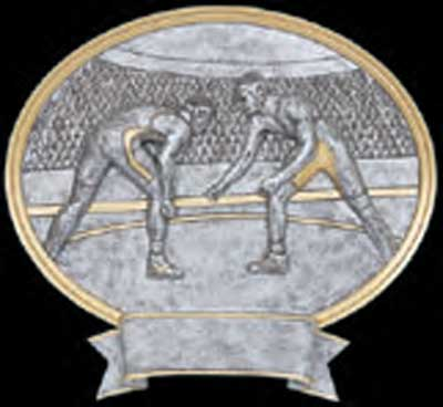 Resin Wrestling Trophy Plaque Award