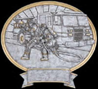 Resin Male Firefighter Plaque Award