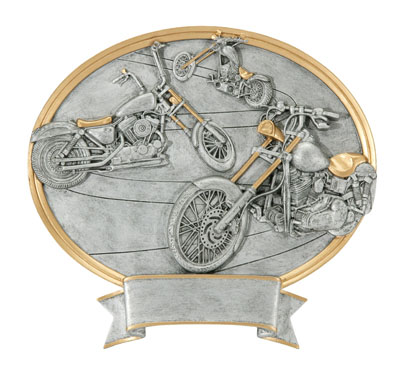 Motocycle plaque 54655 resin oval.