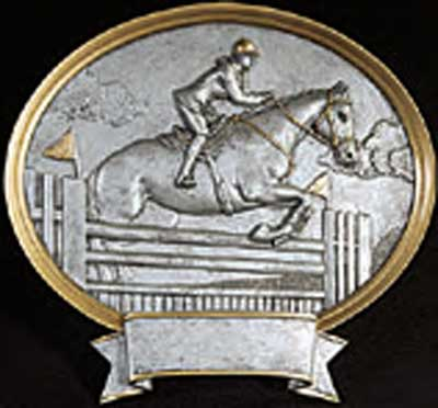 Resin Oval Female Equestrian Plaque Award