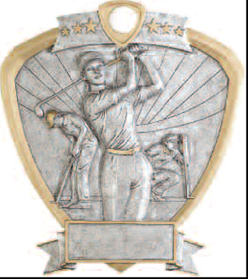 Female Resin Golf Plaque Award (58622)