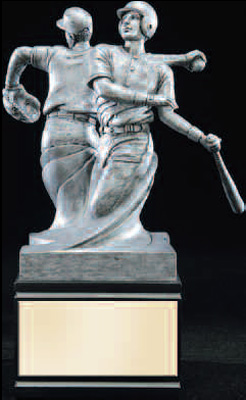 Resin Double Action Baseball Trophy Statue