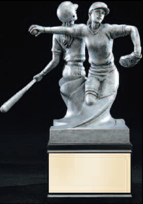 Double Action Softball Trophy Statue