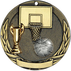 TR211 Tri-Colored Basketball Medals with Six Pricing Options